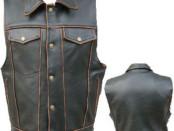 Mens motorcycle vests